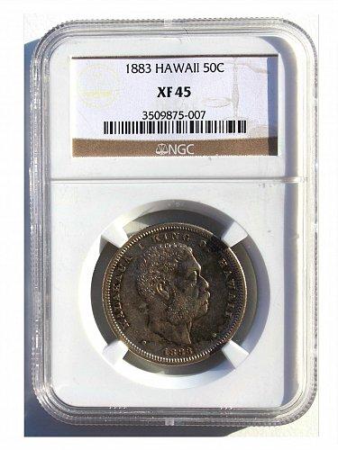 1883 HAWAIIAN HALF DOLLAR