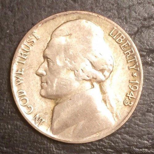 1943/2 Jefferson Nickel
