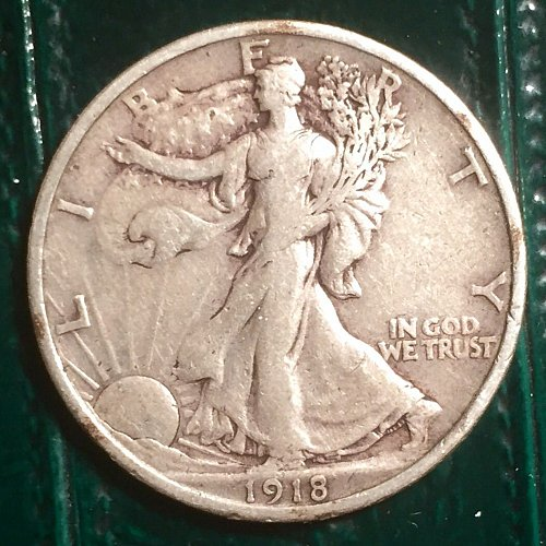1918 Walking Liberty Half