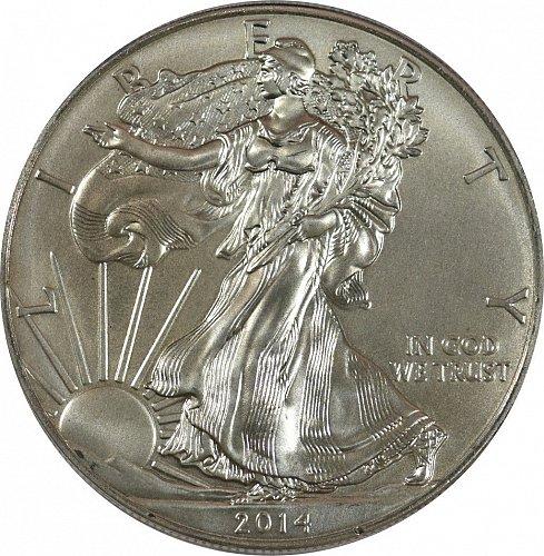 2014 American Silver Eagle, BU, (Item 384)
