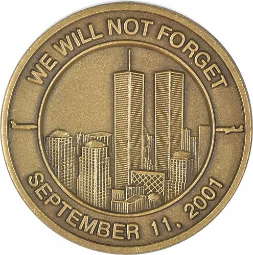 911 Commemorative Challenge Coin, Twin Towers, New (Item 392)