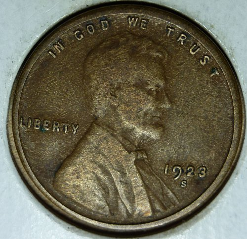1923-S Lincoln Wheat Cent Grade Good