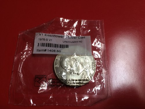 1976 s Eisenhower dollar silver uncirculated