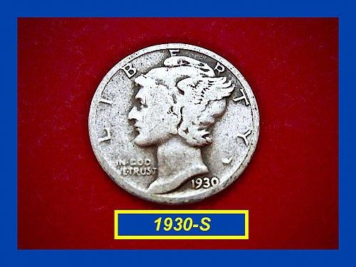 1930-S   Mercury Dime • Circulated   (#3174)