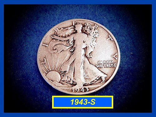 "1943-S  Liberty Walking Half  – ""VF""   (#1617)"