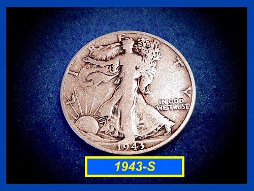 "1943-S  Liberty Walking Half  – ""VF""   (#1617)"