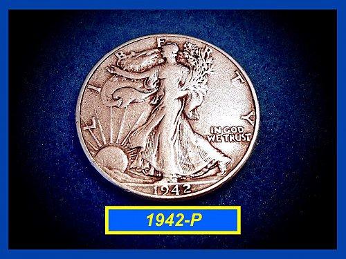 "1942-P Liberty Walking Half  – ""VF""   (#1618)"