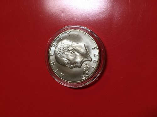 1973 S Eisenhower silver dollar amazing detail MS+++