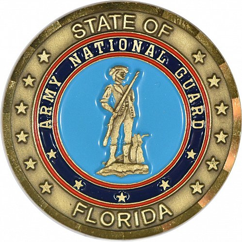 Challenge Coin, Florida National Guard, New, (Item 393)