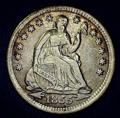 1855-P Seated Liberty Half Dime