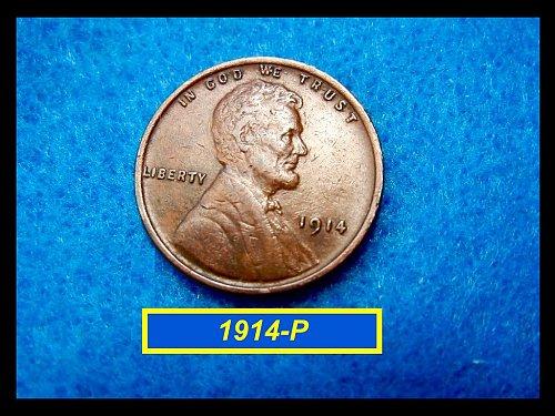 1914-P WHEAT CENT   (#7135)