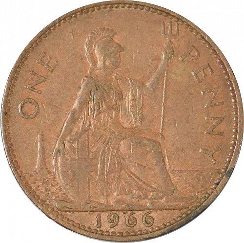 United Kingdom, 1966, One Penny, (Item 381)