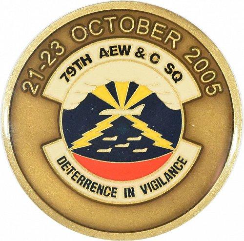 Challenge Coin, 79th AEW&C Squadron/966th AEW&C Squadron (Item 389)