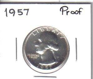 1957  PROOF  WASHINGTON QUARTER