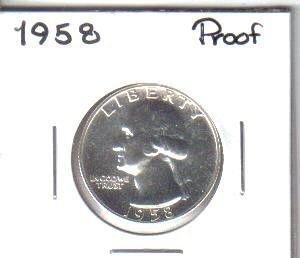 1958  PROOF  WASHINGTON QUARTER