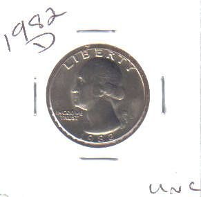 1982  D  WASHINGTON QUARTER