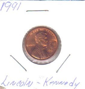 1991  LINCOLN CENT with JFK