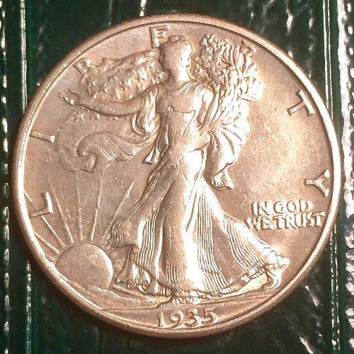 1935D Walking Liberty Half