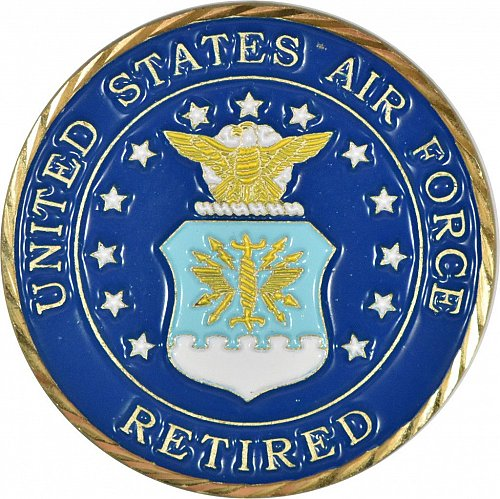 Challenge Coin, United States Air Force Retired, New, (Item 390)