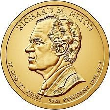 2016 P &  D   - RICHARD NIXON  GOLDEN DOLLAR'S