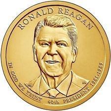 2016 P &  D   - RONALD REAGAN  GOLDEN DOLLAR'S