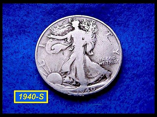 "1940-S  Liberty Walking Half Dollar ––– ""Circulated""  (#1620)"
