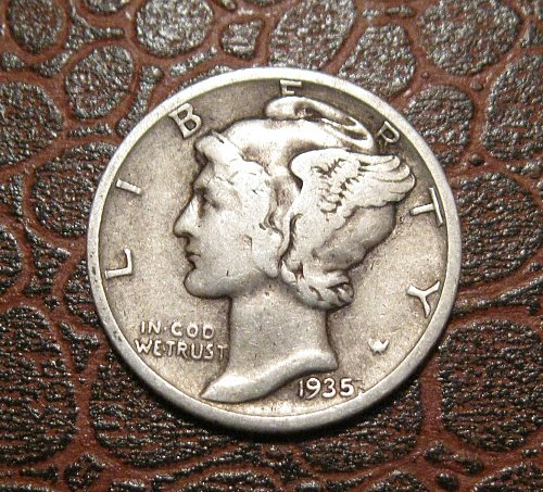 1935 MERCURY DIME, WINGED LIBERTY