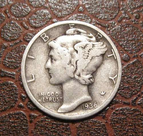 1936 MERCURY DIME, WINGED LIBERTY