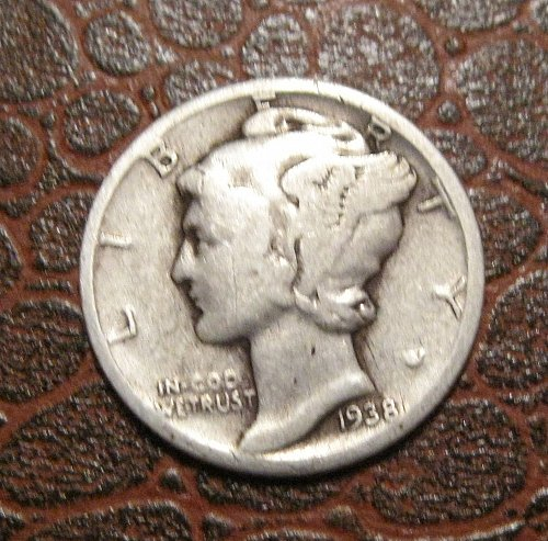 1938 MERCURY DIME, WINGED LIBERTY
