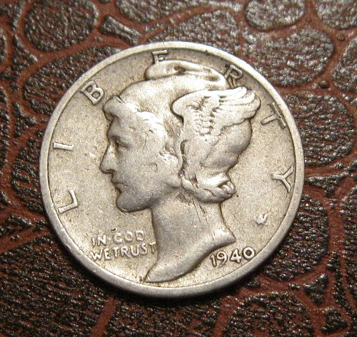1940 D MERCURY DIME, WINGED LIBERTY