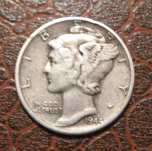 1944 MERCURY DIME, WINGED LIBERTY
