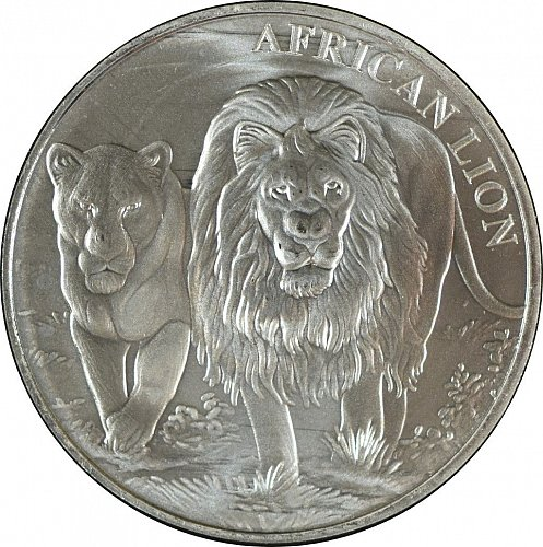 Republique du Congo, 2016, African Lion, 5000 francs,  (Item 388)