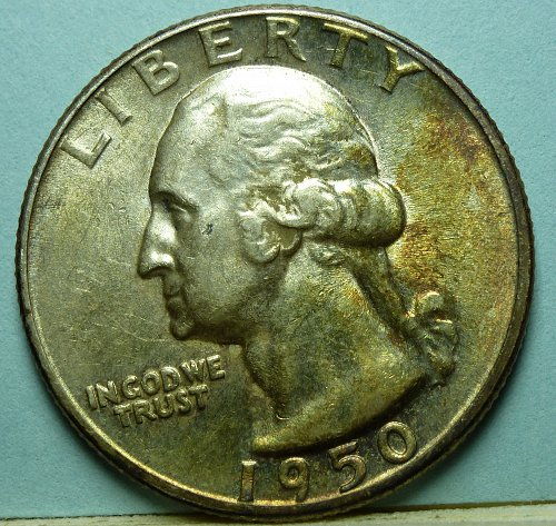 1950 P AU Washington Quarter