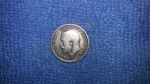 1916 Great Britain Silver Six Pence
