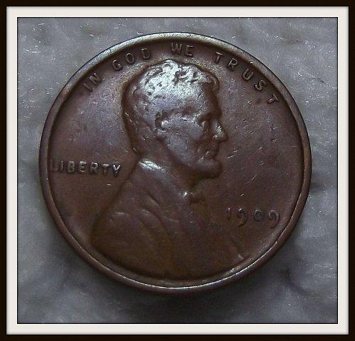 1909 - P V.D.B Lincoln Wheat Cent (VF)