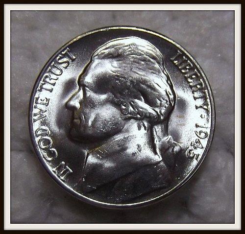 1945 - S Silver Jefferson Nickel (BU)