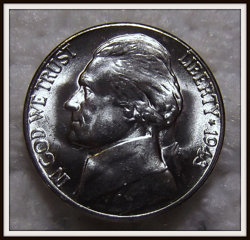 1943 - S Silver Jefferson Nickel (BU)