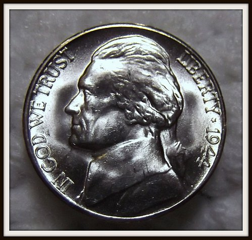 1944 - S Silver Jefferson Nickel (BU)