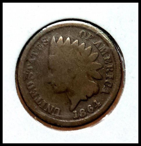 1864 P Indian Head Cent Small Cents: Copper-Nickel Oak Wreath with Shield