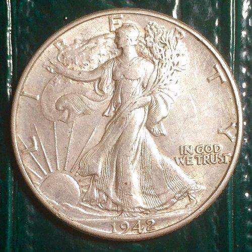 1942 Walking Liberty Half