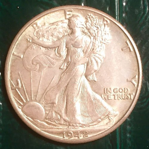 1942D  Walking Liberty Half