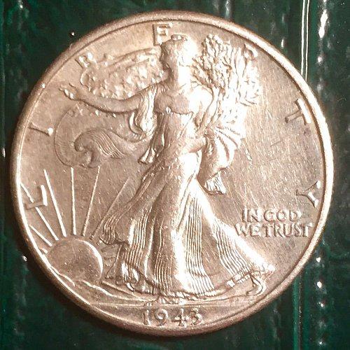1943D  Walking Liberty Half