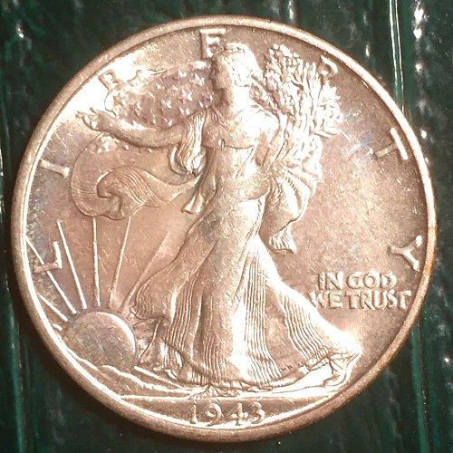 1943S Walking Liberty Half