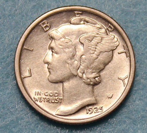 1925 P Mercury Dime