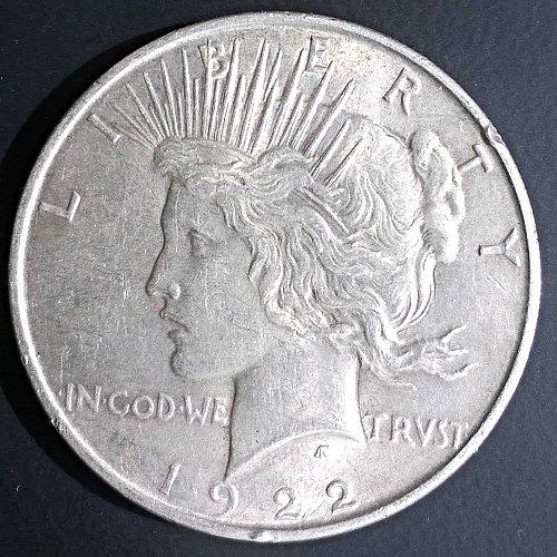 1922 P Peace Dollar