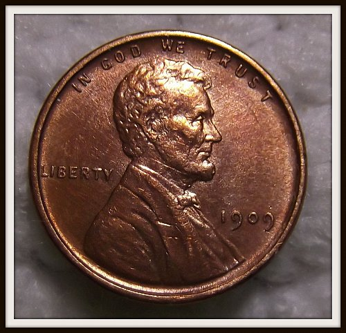 Red 1909 - P Lincoln Wheat Cent (BU)