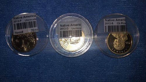 3 beautiful Native American uncirculated 2012 P.D.S.