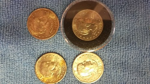 4 beautiful 2 of them rainbow tone wide and near date's