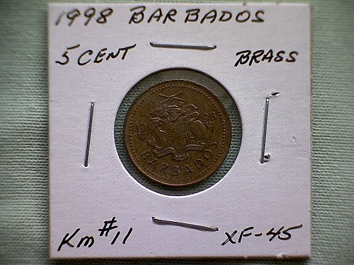 1998 BARBADOS FIVE CENTS