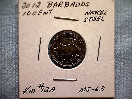 2012 BARBADOS TEN CENT